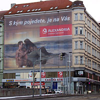 Building wraps in Prague